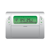 Thermostat d'ambiance programmable pour chauffage central