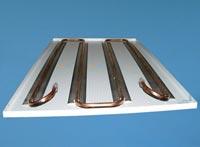 Plafond chauffant hydraulique rayonnant r versible les for Chauffage par le plafond